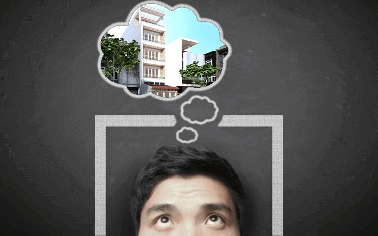 Bước 3 là lên ý tưởng về ngôi nhà tương lai của mình